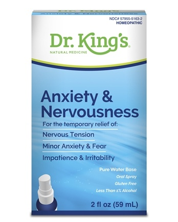 King Bio - Homeopathic Natural Medicine Anxiety & Nervousness - 2 oz.