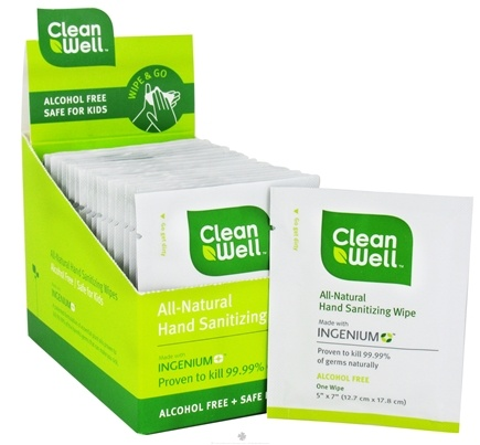 DROPPED: CleanWell - Natural Hand Sanitizing Wipes - 20 Wipe(s)