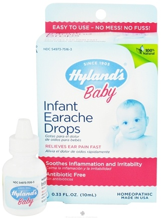 DROPPED: Hylands - Infant Earache Drops - 0.33 oz. CLEARANCE PRICED