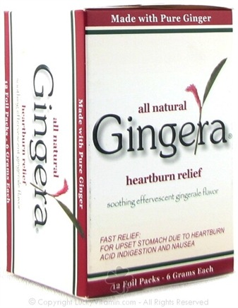 DROPPED: Gingera - Heartburn Relief Soothing Effervescent Gingerale - 12 Pack(s)