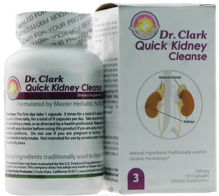 DROPPED: Dr. Clark Purity Products - Quick Kidney Cleanse - 125 Capsules