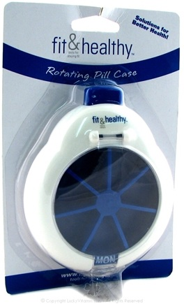 DROPPED: Fit & Fresh - Fit & Healthy Rotating Pill Case - formerly by Vitaminder CLEARANCE PRICED