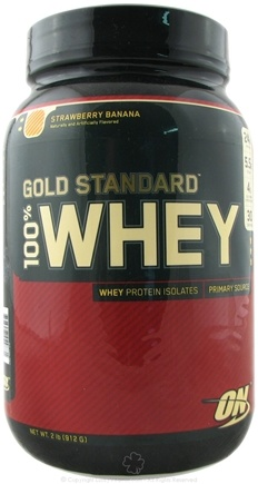DROPPED: Optimum Nutrition - 100% Whey Gold Standard Protein Strawberry Banana - 2 lbs. CLEARANCE PRICED