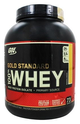 Optimum Nutrition - 100% Whey Gold Standard Protein Banana Cream - 5 lbs.
