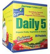 DROPPED: Jarrow Formulas - Daily 5 Certified Organic Apple - 20 Packet(s)