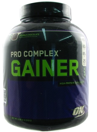 DROPPED: Optimum Nutrition - Pro Complex Gainer Double Chocolate - 5.08 lbs.