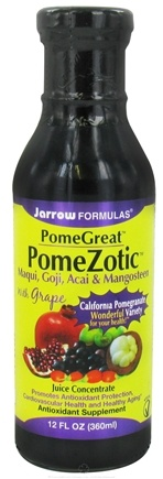 DROPPED: Jarrow Formulas - PomeGreat PomeZotic Juice Concentrate Goji, Acai & Mangosteen with Grape - 12 oz. CLEARANCE PRICED