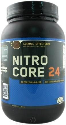 DROPPED: Optimum Nutrition - NitroCore 24 Caramel Toffee Fudge - 3 lbs.