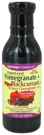 DROPPED: Jarrow Formulas - PomeGreat Pomegranate + Blackcurrant Juice Concentrate with Grape - 12 oz.