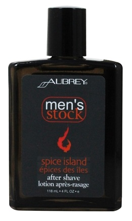 Aubrey Organics - Men's Stock Spice Island After Shave Bay Rum and Vetiver - 4 oz.
