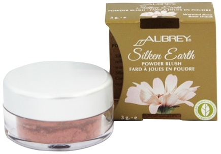 DROPPED: Aubrey Organics - Silken Earth Powder Blush Warmed Rose - 3 Grams