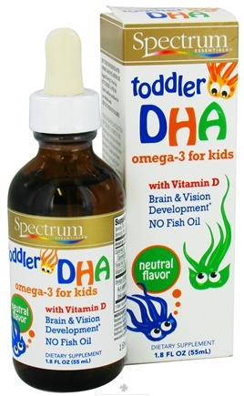 DROPPED: Spectrum Essentials - Toddler DHA Omega-3 for Kids with Vitamin D Neutral Flavor - 1.8 oz. CLEARANCE PRICED