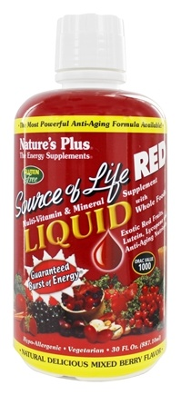 Nature's Plus - Source of Life Red Liquid Mixed Berry - 30 oz.