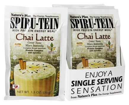 Nature's Plus - Spiru-Tein High Protein Energy Meal Chai Latte - 1 Packet