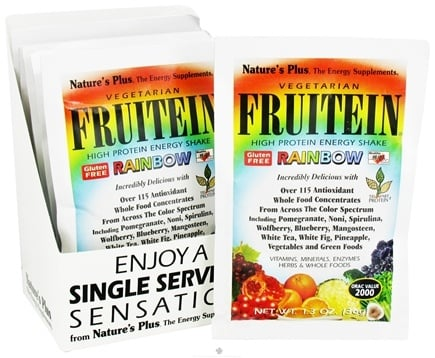 DROPPED: Nature's Plus - Fruitein Vegetarian Shake Rainbow - 1 Packet CLEARANCE PRICED