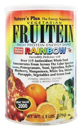 Nature's Plus - Fruitein Vegetarian Shake Rainbow - 1.3 lbs.