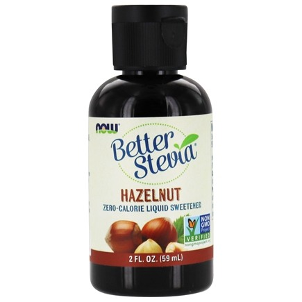 NOW Foods - Better Stevia Extract Liquid Hazelnut - 2 oz. (formerly Stevia Extract Liquid)