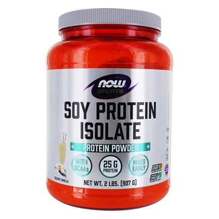 NOW Foods - Soy Protein Isolate Non-GMO Natural Vanilla - 2 lbs.