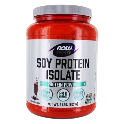DROPPED: NOW Foods - Soy Protein Isolate Non-Genetically Engineered Natural Chocolate - 2 lbs. CLEARANCE PRICED
