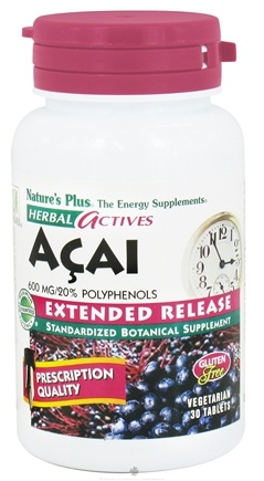 DROPPED: Nature's Plus - Herbal Actives Acai Extended Release 600 mg. - 30 Vegetarian Tablets