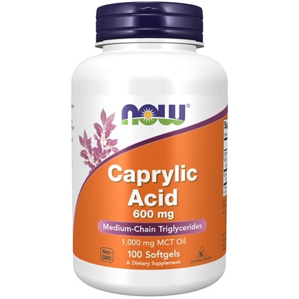 NOW Foods - Caprylic Acid Intestinal Health 600 mg. - 100 Softgels