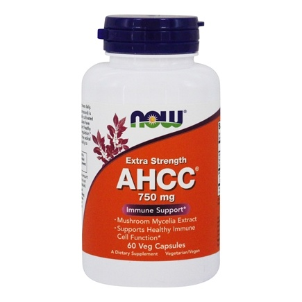 NOW Foods - AHCC Extra Strength Immune Support 750 mg. - 60 Vegetarian Capsules