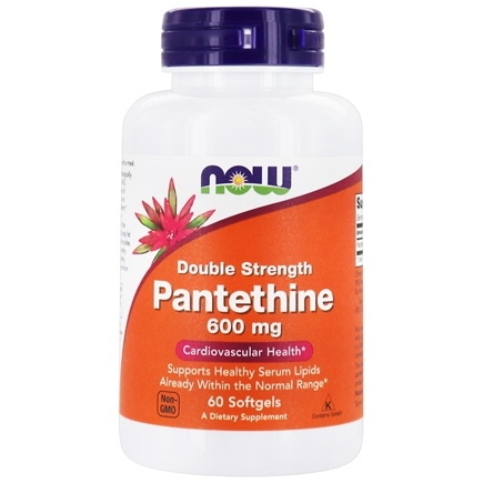 NOW Foods - Pantethine Double Strength 600 mg. - 60 Softgels