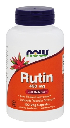 NOW Foods - Rutin Antioxidant Protection 450 mg. - 100 Vegetarian Capsules