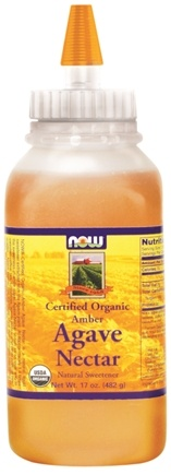DROPPED: NOW Foods - Amber Agave Nectar Certified Organic - 17 oz.