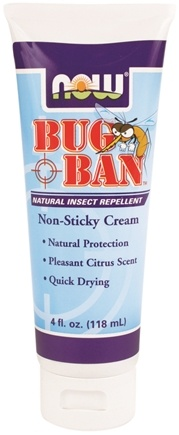 DROPPED: NOW Foods - Bug Ban Natural Insect Repellent Non-Sticky Cream - 4 oz. CLEARANCE PRICED