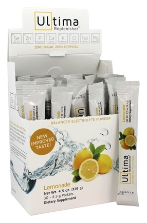 Ultima Health Products - Ultima Replenisher Balanced Electrolyte Powder Drink Lemonade - 30 Packet(s)