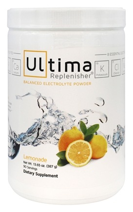 Ultima Health Products - Ultima Replenisher Balanced Electrolyte Powder Drink Lemonade - 13.65 oz.