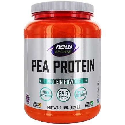 NOW Foods - Pea Protein 100% Pure Non-GMO Vegetable Protein Unflavored - 2 lbs.