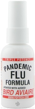 DROPPED: Fountain of Youth Technologies - Pandemic Flu Triple Potency Formula Updated with Added Bird Aviaire - 2 oz.