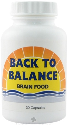 DROPPED: Fountain of Youth Technologies - Back to Balance Brain Food - 30 Capsules CLEARANCE PRICED