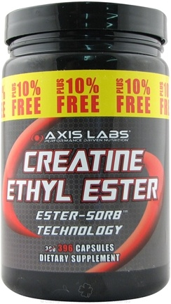 DROPPED: Axis Labs - Creatine Ethyl Ester 360 + 10% Bonus - 396 Capsules