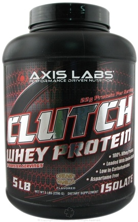 DROPPED: Axis Labs - Clutch Whey Protein Creamy Vanilla - 5 lbs.