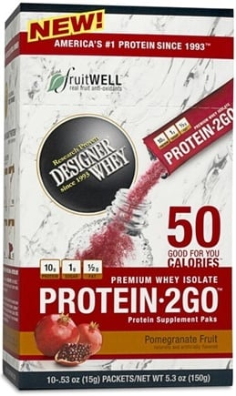 DROPPED: Designer Protein - Protein Pak 2 Go Pomegranate Fruit - 10 Pack(s) CLEARANCE PRICED