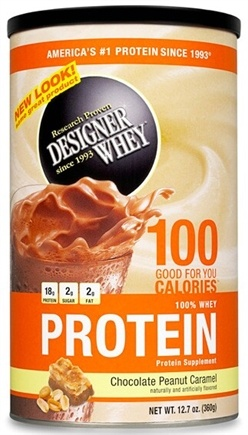 DROPPED: Designer Protein - Designer Whey 100% Whey Protein Powder Chocolate Peanut Caramel - 12.7 oz. CLEARANCE PRICED
