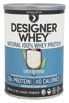 DROPPED: Designer Protein - Designer Whey 100% Premium Whey Protein Powder Plain & Simple - 12 oz.