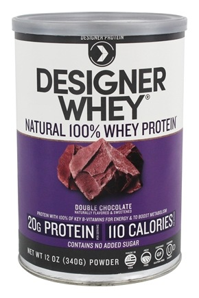 Designer - Designer Whey 100% Whey Protein Powder Double Chocolate - 12.7 oz.