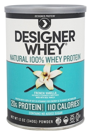 Designer - Designer Whey Natural 100% Whey-Based Protein Powder French Vanilla - 12 oz.