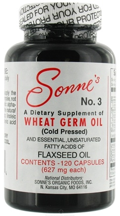 DROPPED: Sonne's - Wheat Germ Oil With Flax Seed Oil #3 Cold Pressed - 120 Capsules