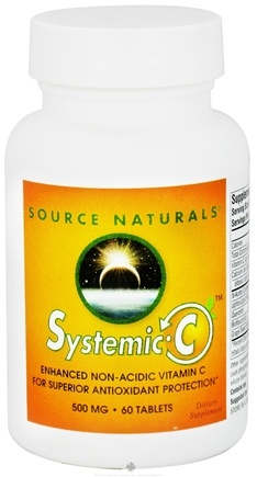 DROPPED: Source Naturals - Systemic-C Enhanced Non-Acidic Vitamin C 500 mg. - 60 Tablets CLEARANCE PRICED