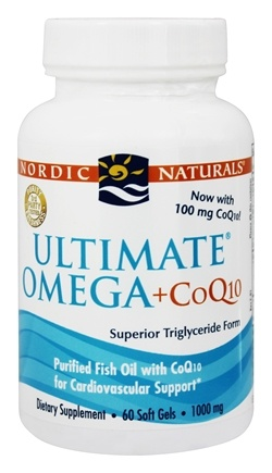 Nordic Naturals - Ultimate Omega Purified Fish Oil Plus CoQ10 1000 mg. - 60 Softgels
