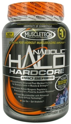 DROPPED: Muscletech Products - Anabolic Halo Hardcore Pro Series Blue Raspberry Glacier - 2 lbs.