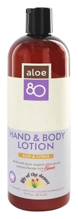 DROPPED: Lily Of The Desert - Aloe 80 Organics Hand & Body Lotion Citrus - 16 oz.