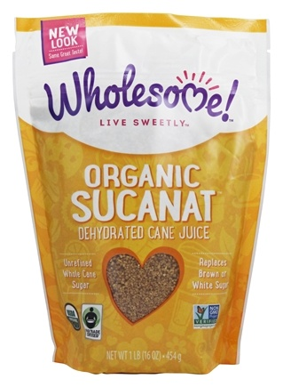 DROPPED: Wholesome Sweeteners - Organic Sucanat - 1 lb. CLEARANCE PRICED