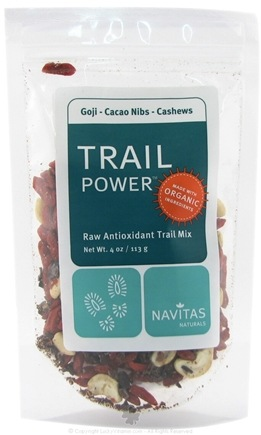 DROPPED: Navitas Naturals - Trail Power Goji-Cacao Nibs-Cashews Certified Organic - 4 oz.