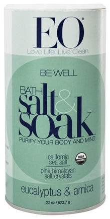 EO Products - Bath Salts Be Well Eucalyptus & Arnica - 22 oz.